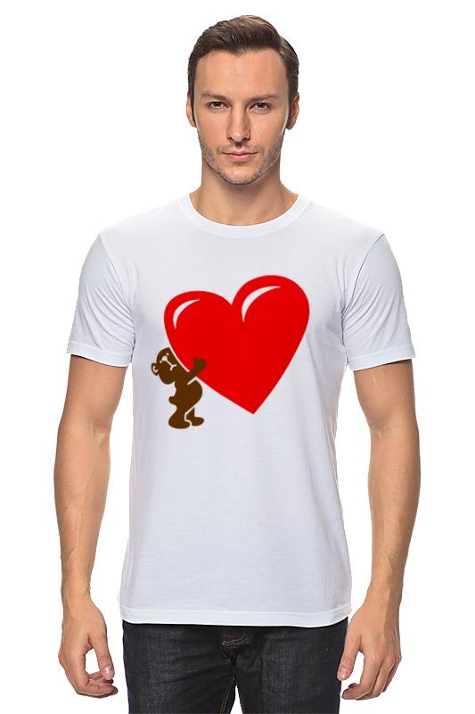 Футболка классическая Printio Bear heart