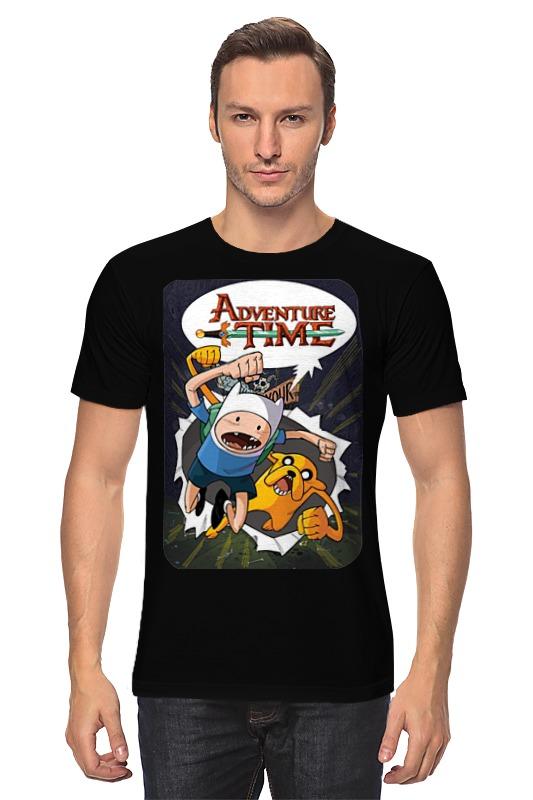 Футболка классическая Printio Adventure time finn and jake цена