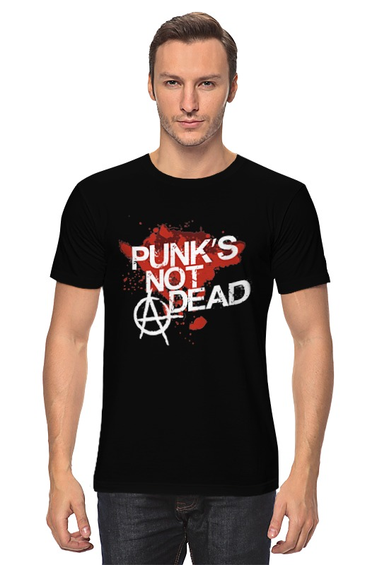цена  Футболка классическая Printio Punks not dead  онлайн в 2017 году