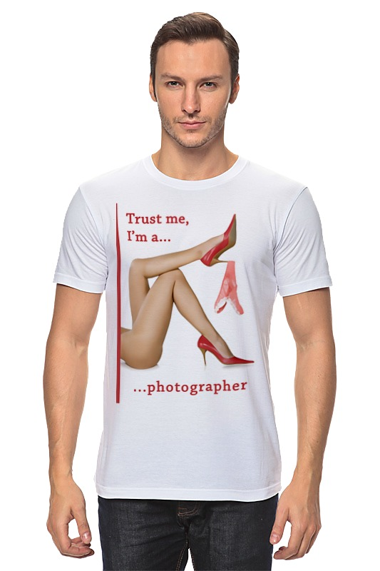 Футболка классическая Printio Trust me, i'm a photographer trust toilette пиджак