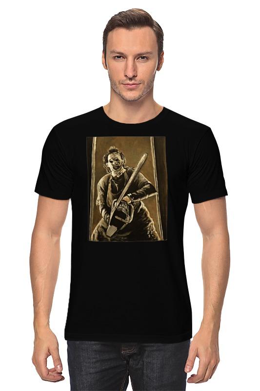 Футболка классическая Printio Кожаное лицо кожаное платье