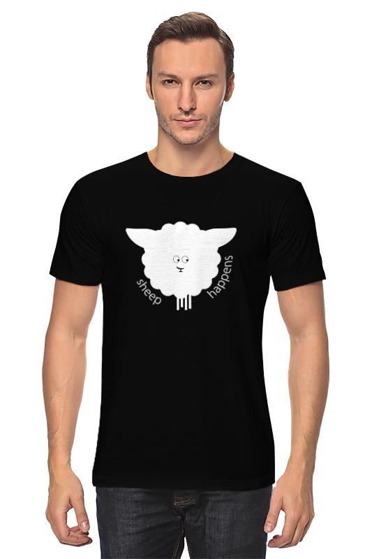 Футболка классическая Printio Round sheep black футболка классическая printio новогодний лось