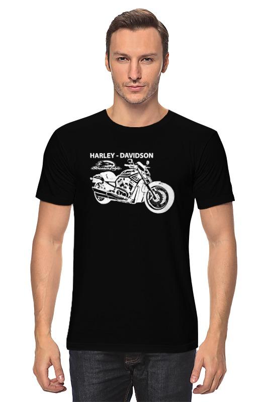 Футболка классическая Printio Harley-davidson / харлей