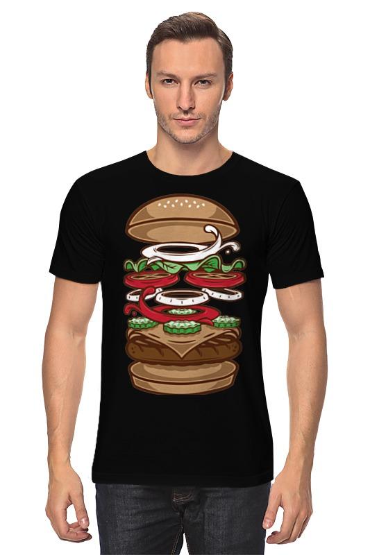 Футболка классическая Printio Burger/бургер beer burger