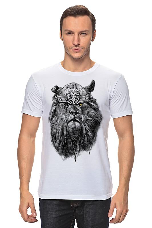 Printio Лев викинг футболка классическая printio викинг