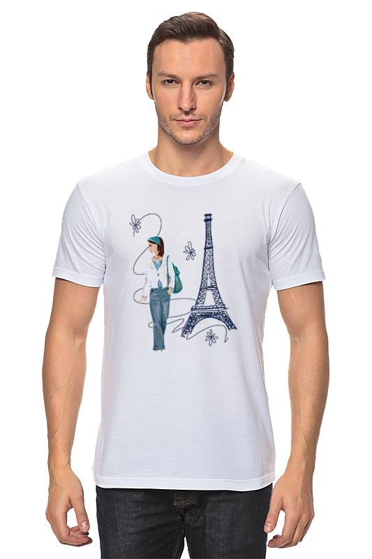 Футболка классическая Printio Парижанка макет эйфелевой башни спб