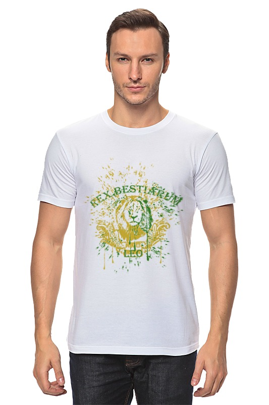 Футболка классическая Printio Лев - царь зверей футболка классическая printio лев царь зверей