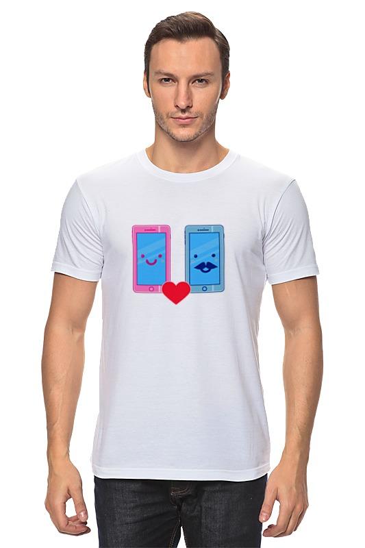 Футболка классическая Printio Телефоны влюблены