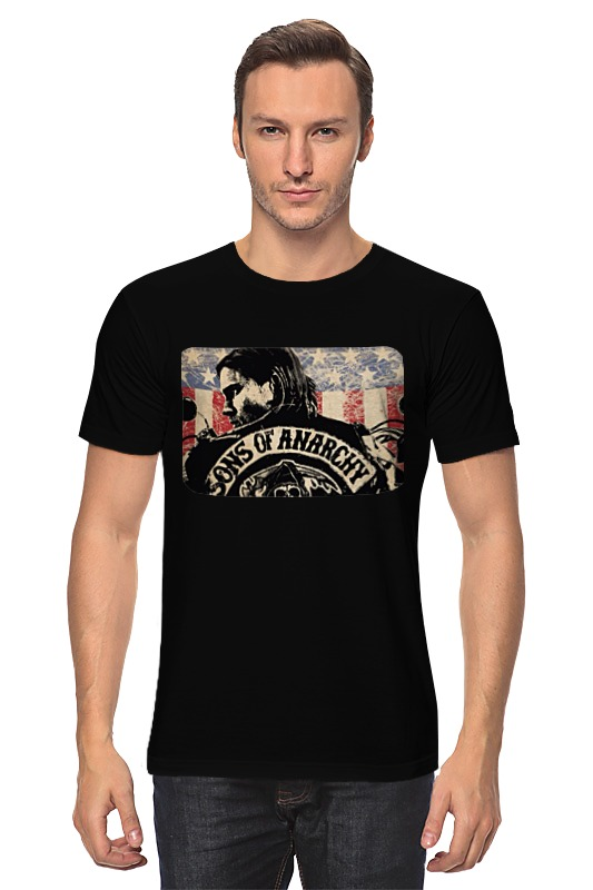 Футболка классическая Printio Sons of anarchy - black майка классическая printio sons of anarchy t shirt