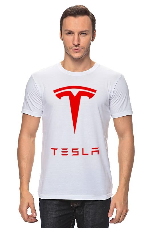 Футболка классическая Printio Тесла моторс цена и фото