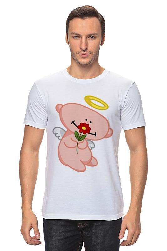 Футболка классическая Printio Ангел с цветком анатолий ярмолюк поспорил ангел с демоном