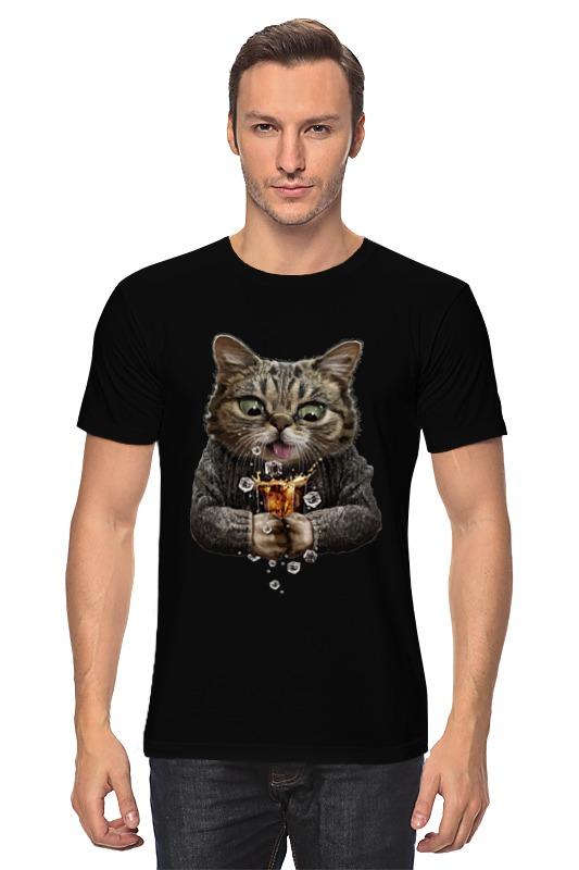 Футболка классическая Printio Whiskey cat leaving whiskey bend