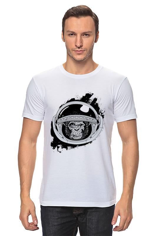 Футболка классическая Printio Space monkey (космическая обезьяна) beauty women кардиган бьюти вуман lt3561 1016 черно белый s m черно белый