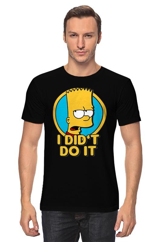 Футболка классическая Printio Барт симпсон.  этого не делал