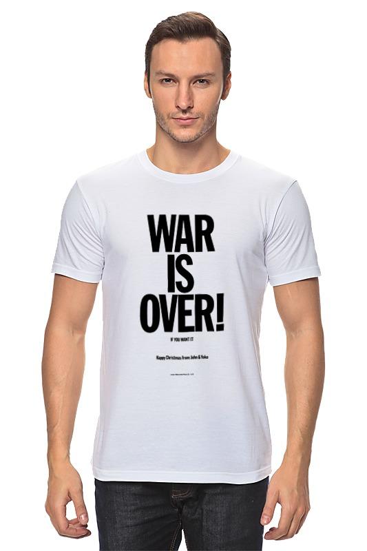 лучшая цена Футболка классическая Printio War is over / война закончена