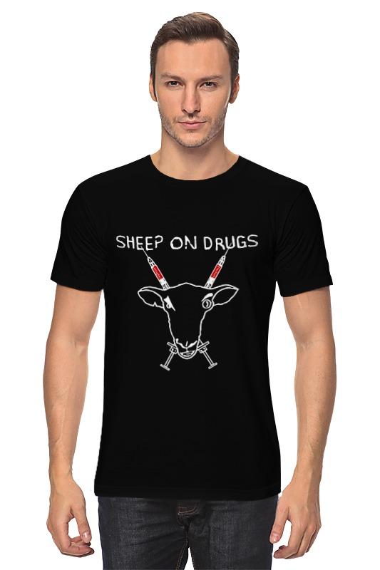 Футболка классическая Printio Sheep on drugs подушка для сидений beating the sheep