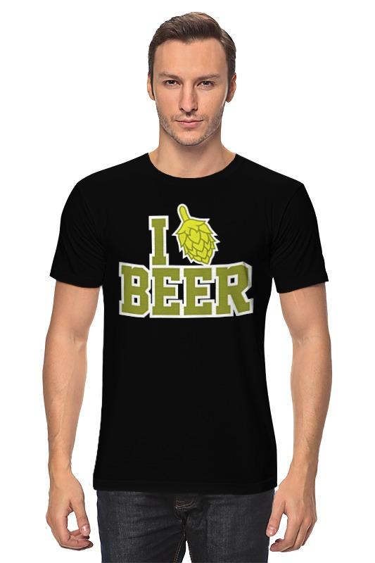 Футболка классическая Printio Люблю пиво картридж cactus cs c729y для canon i sensys lbp7010c lbp7018c желтый 1000стр