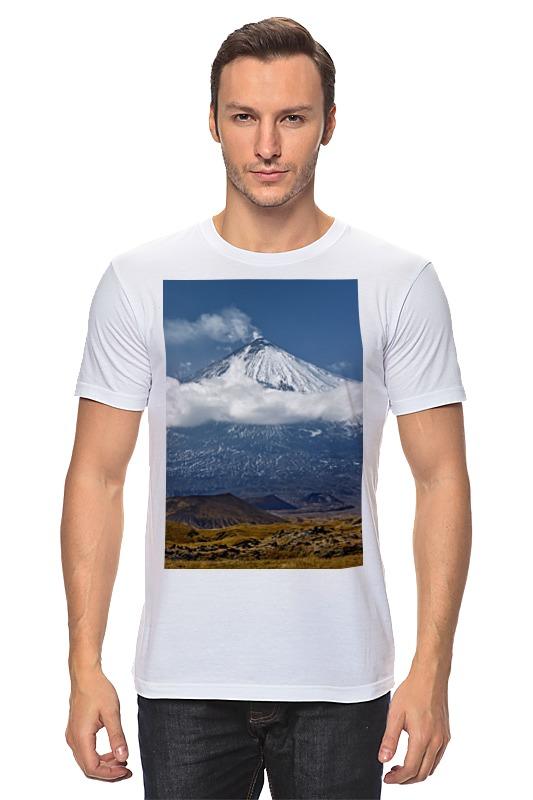 Футболка классическая Printio Камчатка, осенний пейзаж, извержение вулкана