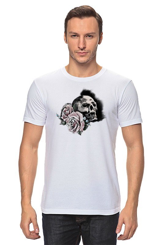 Футболка классическая Printio Череп и розы футболка классическая printio череп и скейты