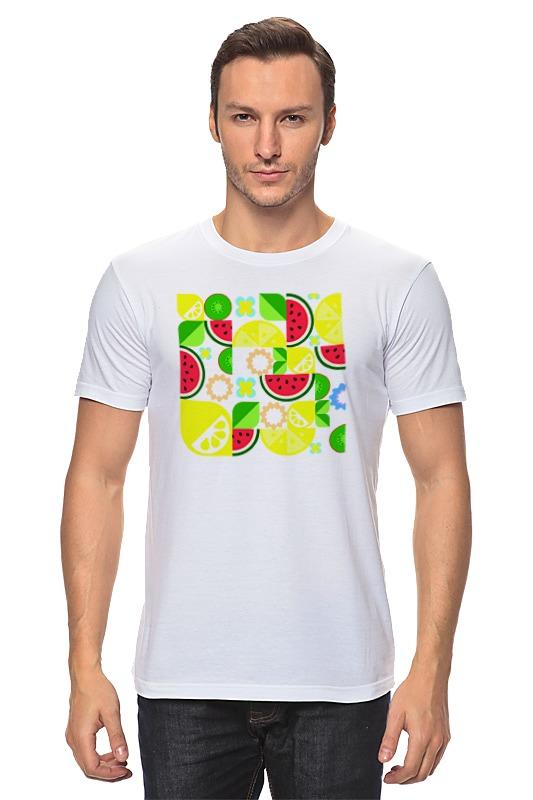 Футболка классическая Printio Летние фрукты basilur чайный набор волшебные фрукты клубника и киви