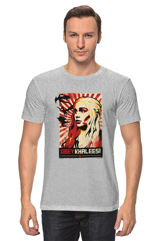 Printio Obey khaleesi (game of thrones) майка классическая printio obey khaleesi