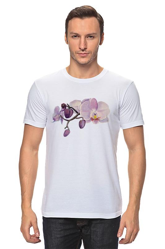 Футболка классическая Printio Ветка орхидеи цветной тм орхидеи