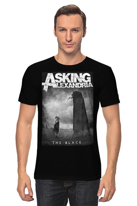 Футболка классическая Printio Asking alexandria the black футболка с полной запечаткой для мальчиков printio asking alexandria the black