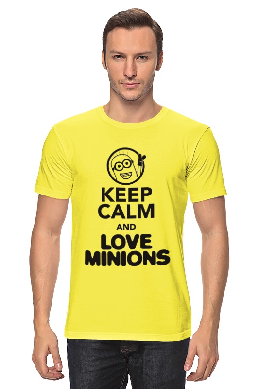Футболка классическая Printio Keep calm & love minions футболка стрэйч printio keep calm