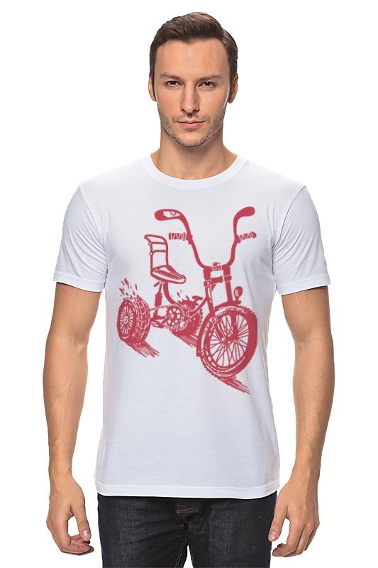 Футболка классическая Printio Велосипед экономичность и энергоемкость городского транспорта