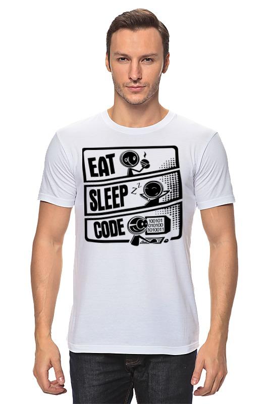 Футболка классическая Printio Eat, sleep, code футболка классическая printio code программирование