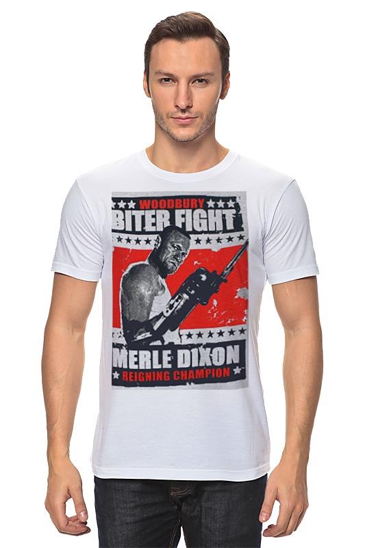 где купить Printio Walking dead merle dixon biter fight по лучшей цене
