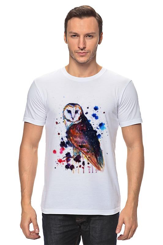 Футболка классическая Printio Акварельная сова футболка классическая printio акварельная новогодняя забавная собака