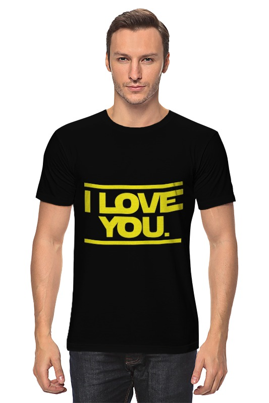 Футболка классическая Printio I love you star wars сумка printio i love you beary much