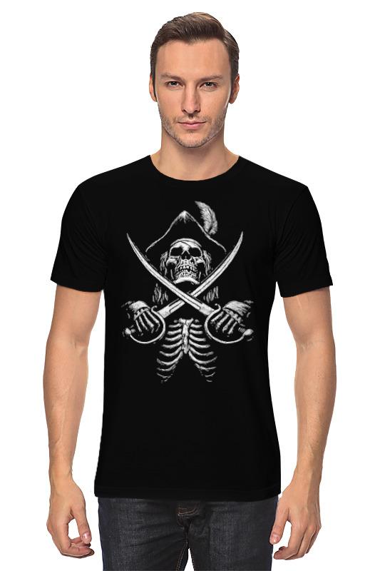 Футболка классическая Printio Jolly roger (black sails)_ зонт трость с деревянной ручкой printio black sails jolly roger