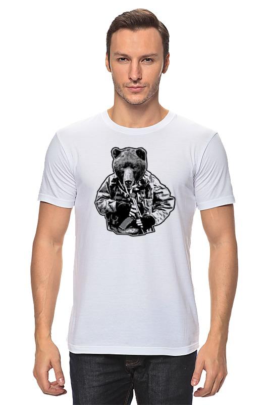 Футболка классическая Printio Медведь солдат гиря iron head медведь 32 0 кг