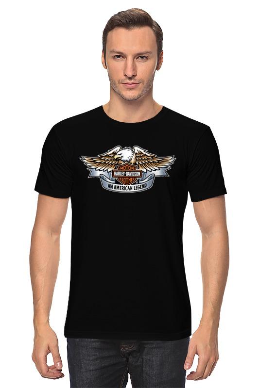 Футболка классическая Printio Harley-davidson an american legend / харлей