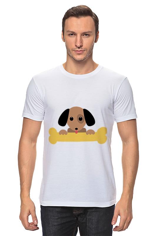 Футболка классическая Printio Собачка с косточкой фантазер плюшевое сердце собачка с косточкой