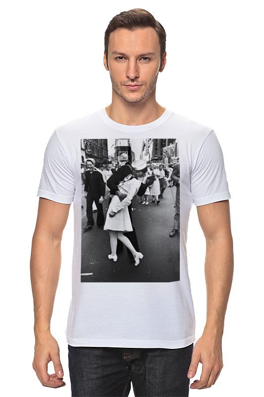 Футболка классическая Printio Поцелуй на таймс-сквер educa пазл таймс сквер нью йорк