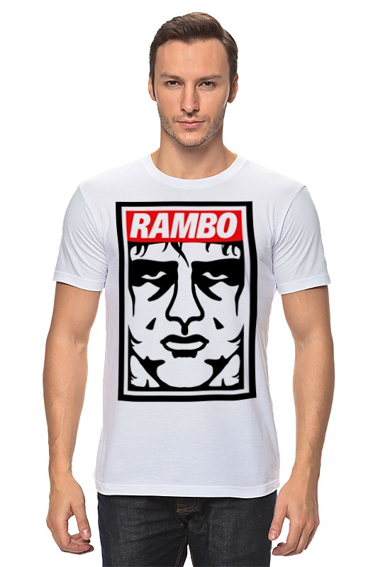 Футболка классическая Printio Рэмбо (rambo) майка классическая printio рэмбо