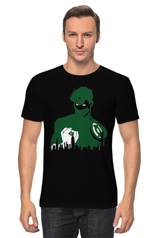 Футболка классическая Printio Зеленый фонарь (green lantern) green lantern by geoff johns omnibus volume 3