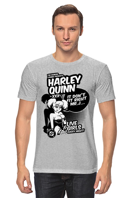 Футболка классическая Printio Харли квинн (harley quinn) платье летнее printio harley quinn харли квинн