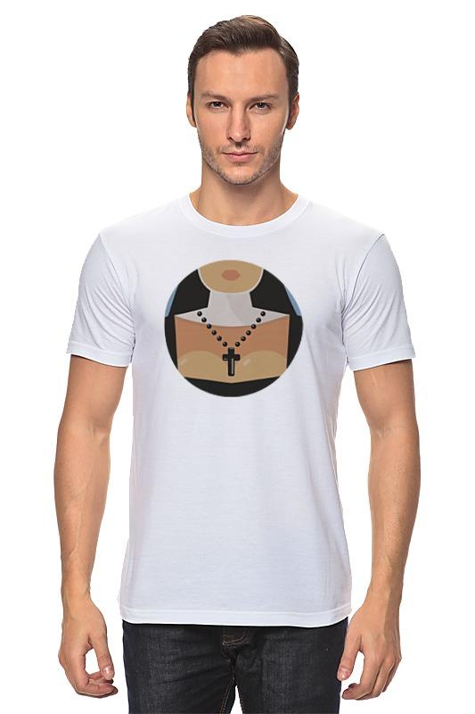 Футболка классическая Printio Монашка футболка классическая printio монашка молится букве t