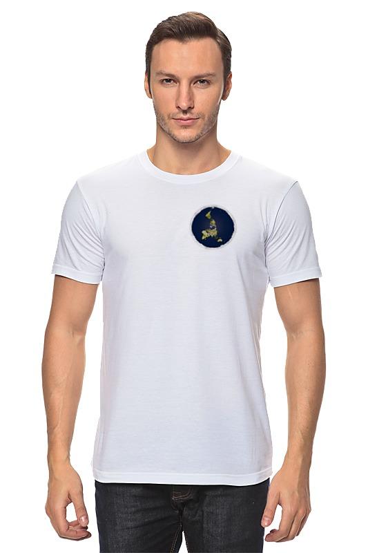 Printio плоская земля (мужская, белая) футболка белая мужская без рисунка