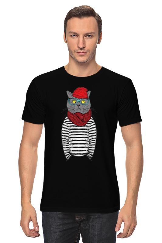 Футболка классическая Printio Кот хипстер футболка классическая printio новый год кот в шапке