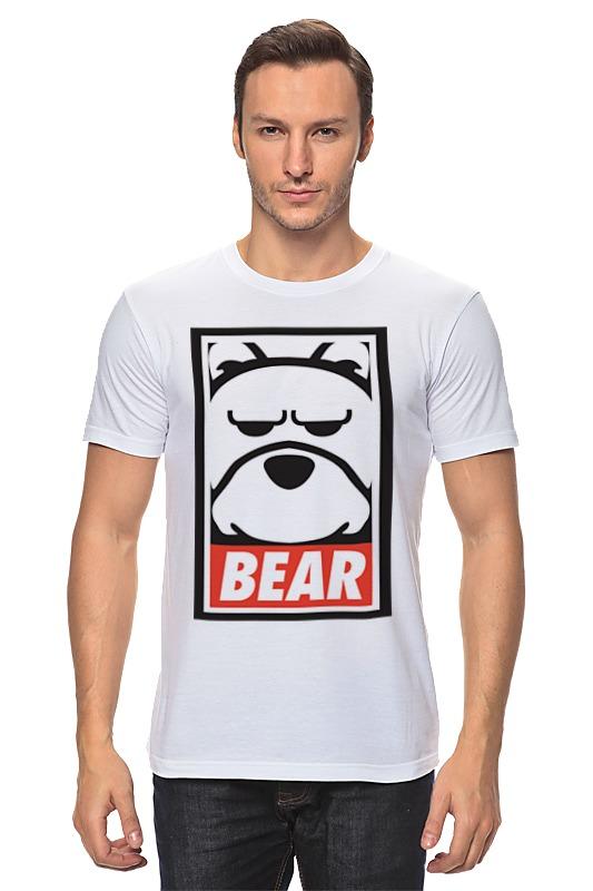 Футболка классическая Printio Мишка (bear, obey)