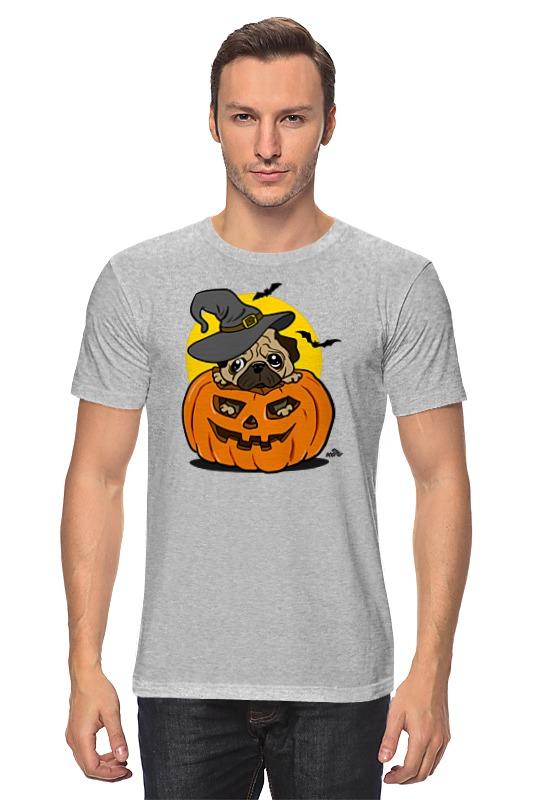 Футболка классическая Printio Мопс на хэллоуин цена и фото