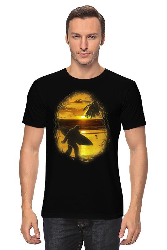 Футболка классическая Printio Йети на пляже