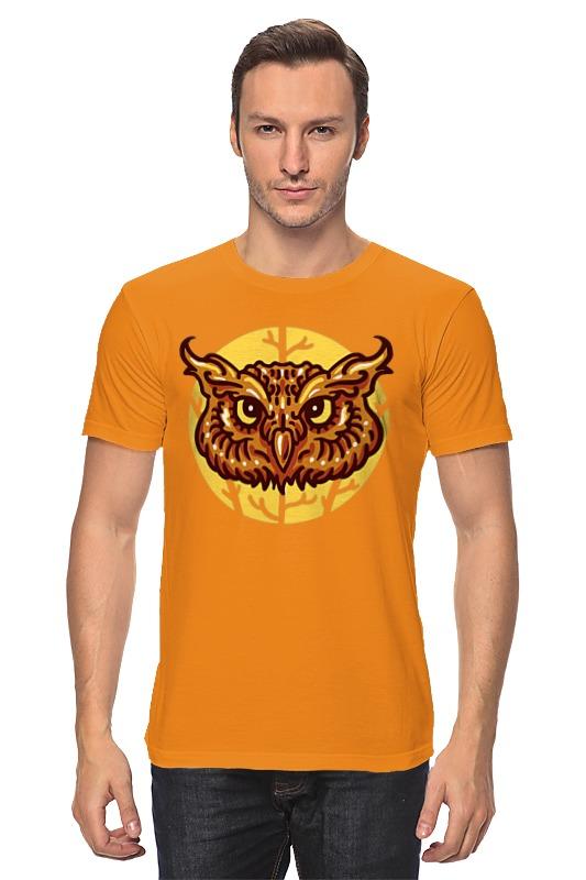 Футболка классическая Printio Сова (owl) owl shape 7 colors change 3d touch night light