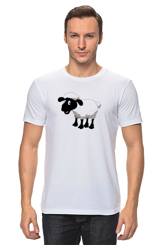 Футболка классическая Printio Белая овечка футболка классическая printio модная овечка