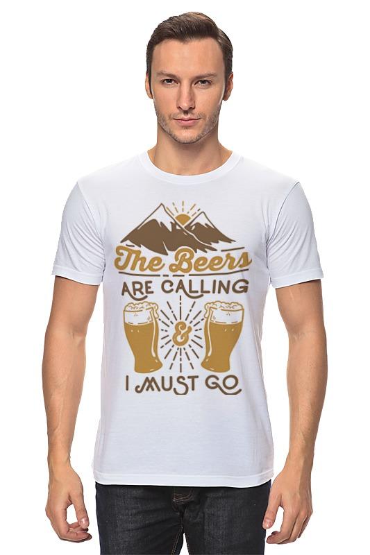 Футболка классическая Printio Пиво зовёт! лонгслив printio ячмень солод вода пиво